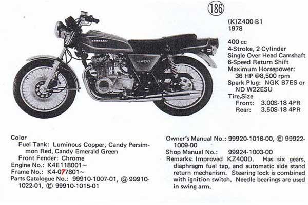 400 CC Kawasaki Z 400 G2 Custom 1980 Speedo Cable