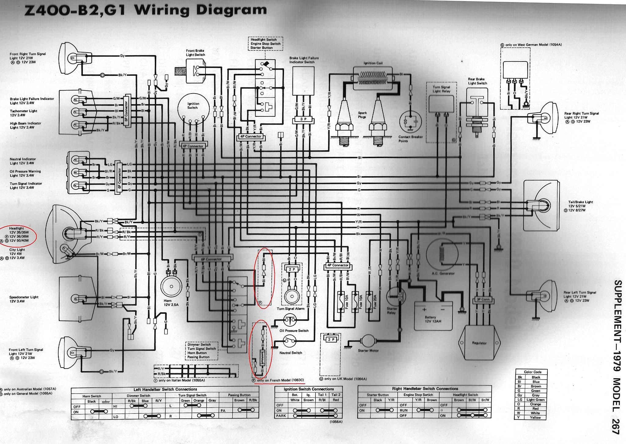 k z 400 wiring diagram manual e books Electrical Wiring index of techh tips bilder wiring diagrams k z 400
