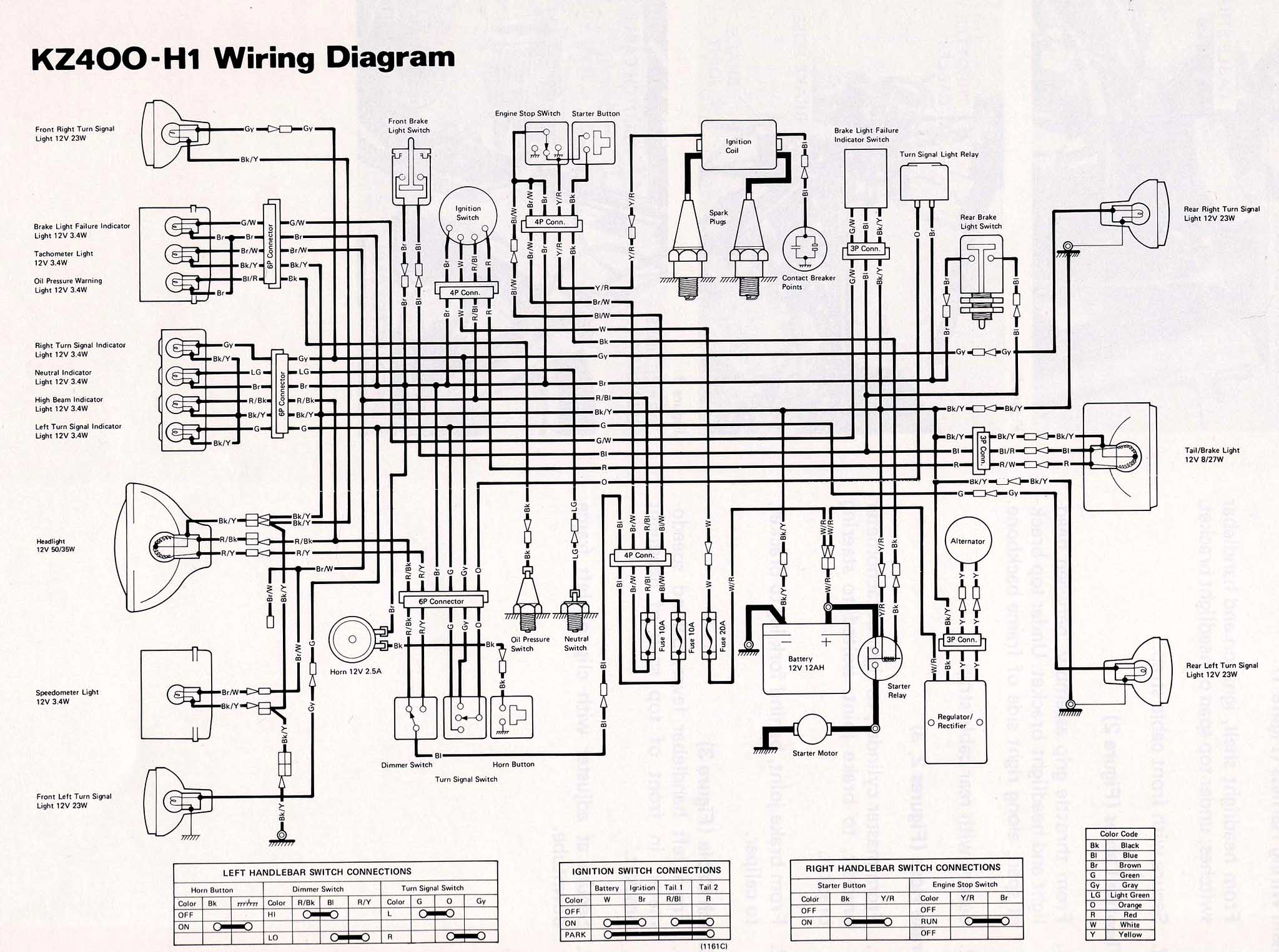 wire diagram 1979 kz400